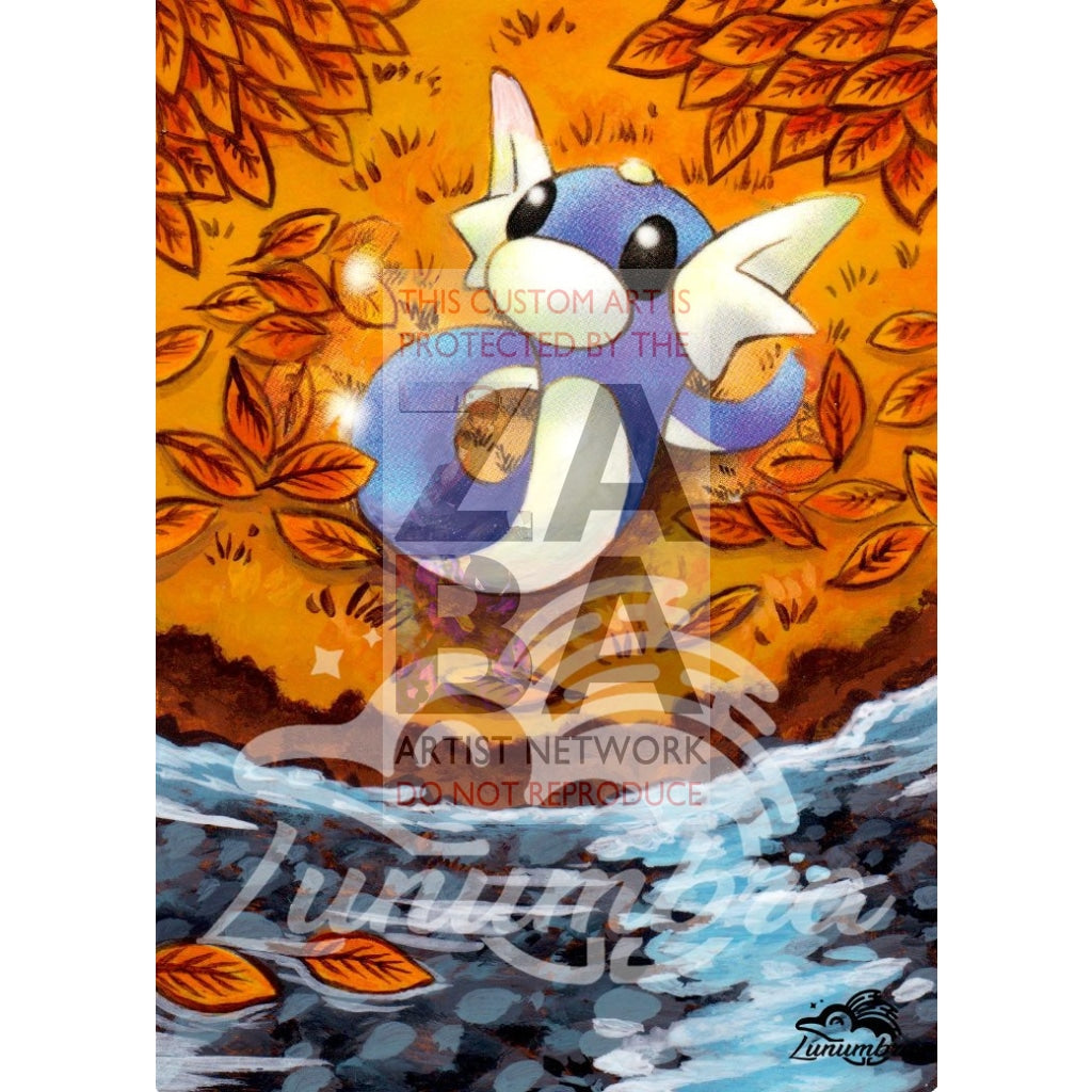 Dratini 107/165 Expedition Extended Art Custom Pokemon Card Textless Silver Holographic