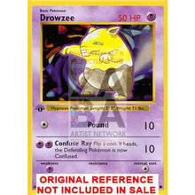 Drowzee 49/102 Base Set Extended Art Custom Pokemon Card