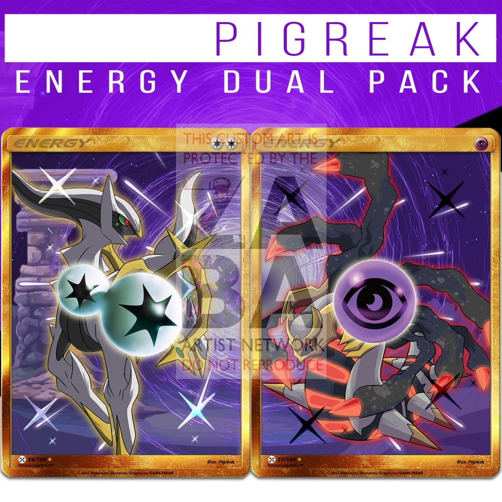 Dual Pack Arceus + Giratina Secret Rare Energy Custom Cards Pokemon Card