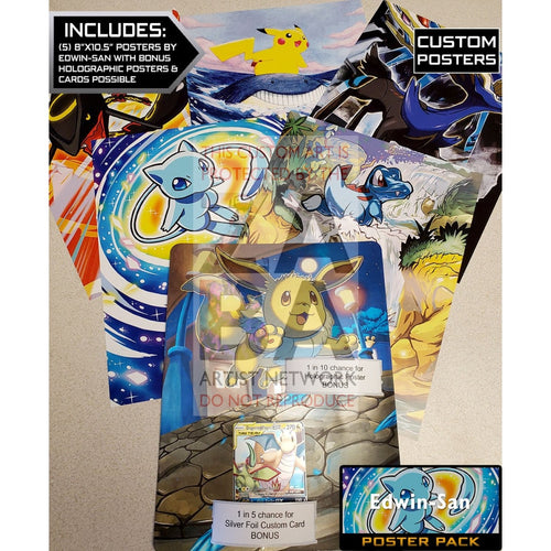 Edwin-San Poster Pack - 8X10.5 Posters + Bonus Potential Custom Pokemon Card