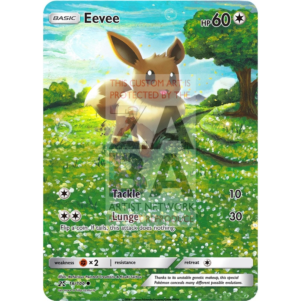 Eevee 36/98 Ancient Origins Custom Pokemon Card Silver Holographic