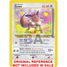 Eevee 51/64 Jungle Set Extended Art Custom Pokemon Card