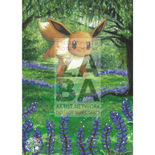 Eevee 59/111 Rising Rivals Extended Art Custom Pokemon Card Silver Holo
