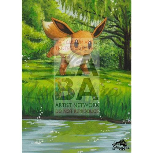 Eevee 59/120 Rising Rivals Extended Art Custom Pokemon Card Textless Silver Holographic