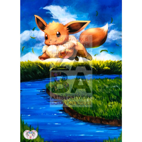 Eevee 80/111 Furious Fists Extended Art Custom Pokemon Card Silver Foil