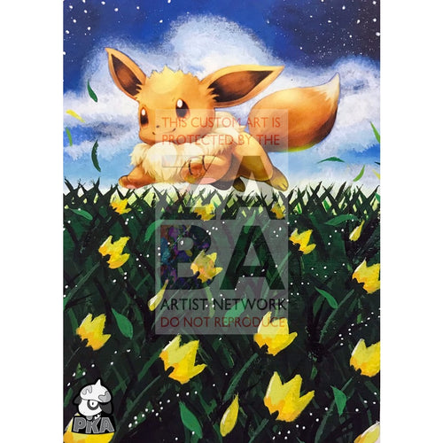 Eevee 80/111 Furious Fists Extended Art Custom Pokemon Card Silver Holographic