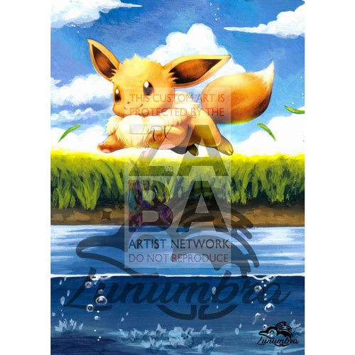 Eevee 80/111 Xy Furious Fists Extended Art Custom Pokemon Card Textless Silver Holographic