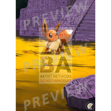 Eevee No. 133 Neo 2 (Japanese Set) Extended Art Custom Pokemon Card Textless Silver Foil