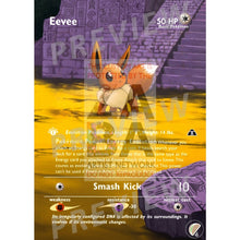 Eevee No. 133 Neo 2 (Japanese Set) Extended Art Custom Pokemon Card With Text Silver Foil