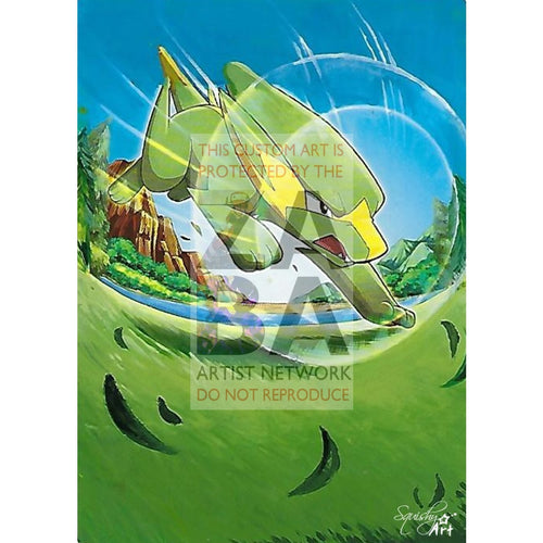 Electrike 60/160 Primal Clash Extended Art Custom Pokemon Card Textless Silver Holographic