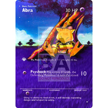 Entire Base Set Extended Art! (Choose A Single) Custom Pokemon Cards Abra Card