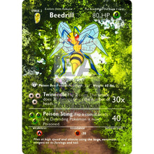 Entire Base Set Extended Art! (Choose A Single) Custom Pokemon Cards Beedrill Card