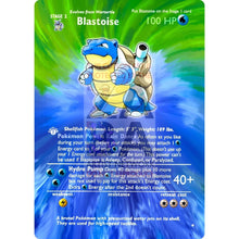 Entire Base Set Extended Art! (Choose A Single) Custom Pokemon Cards Blastoise Card
