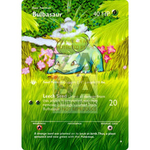Entire Base Set Extended Art! (Choose A Single) Custom Pokemon Cards Bulbasaur Card
