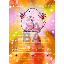 Entire Base Set Extended Art! (Choose A Single) Custom Pokemon Cards Chansey Card