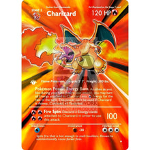 Entire Base Set Extended Art! (Choose A Single) Custom Pokemon Cards Charizard Card