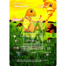 Entire Base Set Extended Art! (Choose A Single) Custom Pokemon Cards Charmander Card