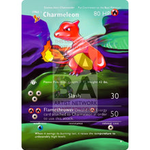 Entire Base Set Extended Art! (Choose A Single) Custom Pokemon Cards Charmeleon Card