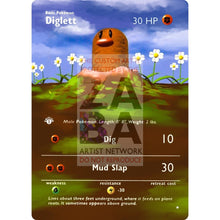 Entire Base Set Extended Art! (Choose A Single) Custom Pokemon Cards Diglett Card