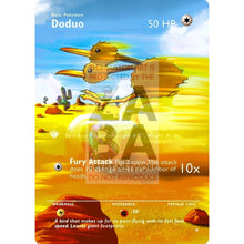 Entire Base Set Extended Art! (Choose A Single) Custom Pokemon Cards Doduo Card