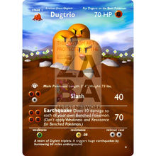Entire Base Set Extended Art! (Choose A Single) Custom Pokemon Cards Dugtrio Card