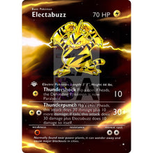 Entire Base Set Extended Art! (Choose A Single) Custom Pokemon Cards Electabuzz Card