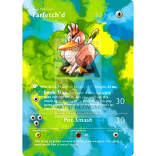 Entire Base Set Extended Art! (Choose A Single) Custom Pokemon Cards Farfetchd Card
