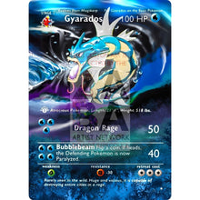 Entire Base Set Extended Art! (Choose A Single) Custom Pokemon Cards Gyarados Card