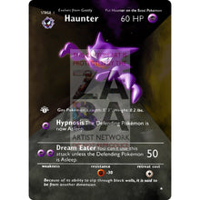 Entire Base Set Extended Art! (Choose A Single) Custom Pokemon Cards Haunter Card