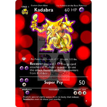Entire Base Set Extended Art! (Choose A Single) Custom Pokemon Cards Kadabra Card