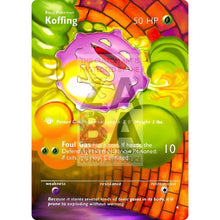 Entire Base Set Extended Art! (Choose A Single) Custom Pokemon Cards Koffing Card