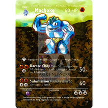 Entire Base Set Extended Art! (Choose A Single) Custom Pokemon Cards Machoke Card
