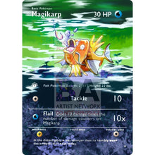 Entire Base Set Extended Art! (Choose A Single) Custom Pokemon Cards Magikarp Card