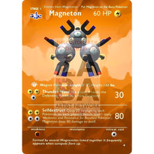 Entire Base Set Extended Art! (Choose A Single) Custom Pokemon Cards Magneton Card