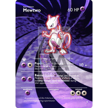 Entire Base Set Extended Art! (Choose A Single) Custom Pokemon Cards Mewtwo Card