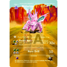 Entire Base Set Extended Art! (Choose A Single) Custom Pokemon Cards Nidorino Card