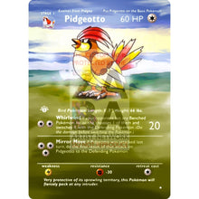 Entire Base Set Extended Art! (Choose A Single) Custom Pokemon Cards Pidgeotto Card