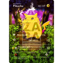 Entire Base Set Extended Art! (Choose A Single) Custom Pokemon Cards Pikachu Card