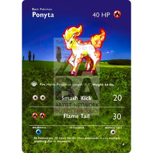 Entire Base Set Extended Art! (Choose A Single) Custom Pokemon Cards Ponyta Card