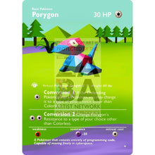 Entire Base Set Extended Art! (Choose A Single) Custom Pokemon Cards Porygon Card