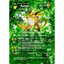 Entire Base Set Extended Art! (Choose A Single) Custom Pokemon Cards Raichu Card
