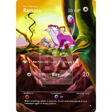 Entire Base Set Extended Art! (Choose A Single) Custom Pokemon Cards Rattata Card