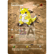 Entire Base Set Extended Art! (Choose A Single) Custom Pokemon Cards Sandshrew Card