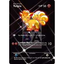 Entire Base Set Extended Art! (Choose A Single) Custom Pokemon Cards Vulpix Card