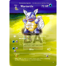 Entire Base Set Extended Art! (Choose A Single) Custom Pokemon Cards Wartortle Card