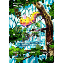 Entire Base Set Extended Art! (Choose A Single) Custom Pokemon Cards Weedle Card