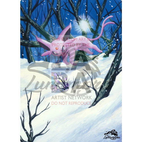Espeon 18/100 Majestic Dawn Extended Art Custom Pokemon Card Textless Silver Holographic