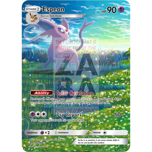 Espeon 48/108 Dark Explorers Custom Pokemon Card Silver Holographic