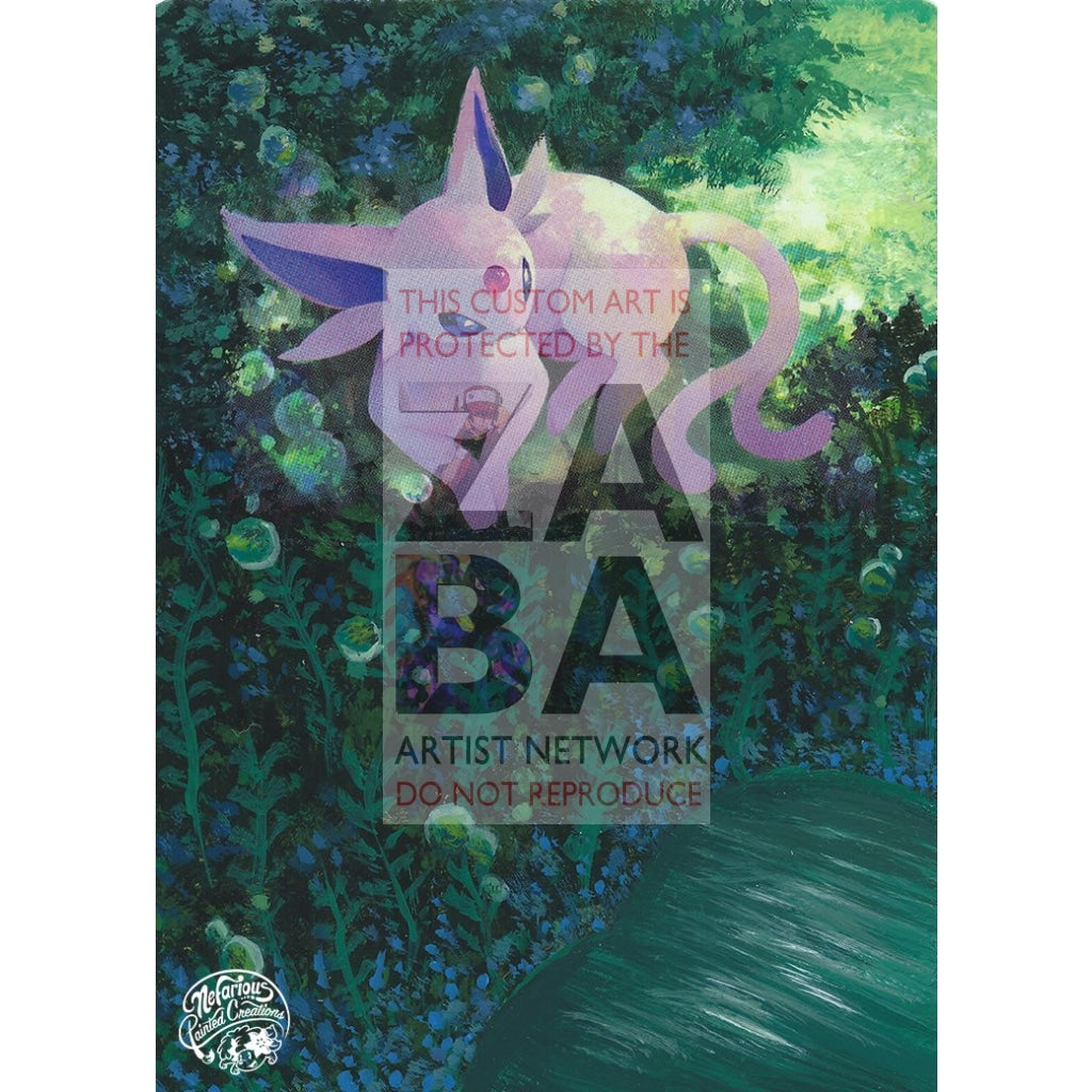 Espeon 89/214 Lost Thunder Extended Art Custom Pokemon Card Silver Holo