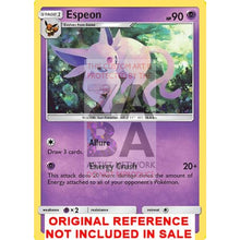 Espeon 89/214 Lost Thunder Extended Art Custom Pokemon Card